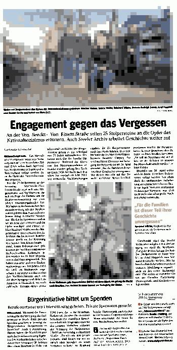WAZ20150223-EngagementGegenVergessen.png